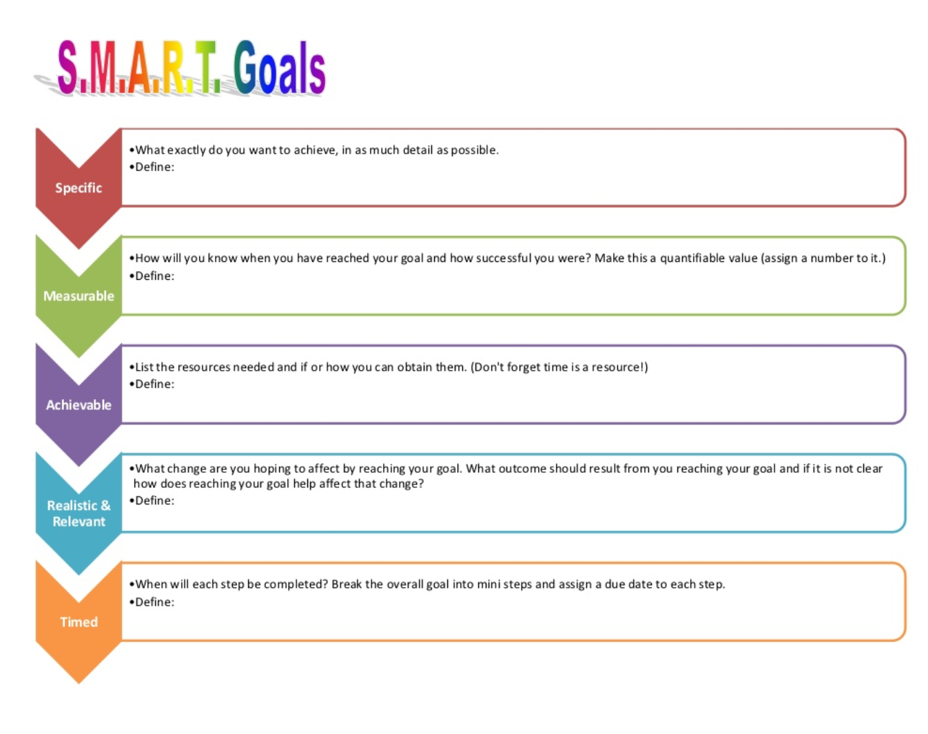 41 S.M.A.R.T Goal Setting Templates & Worksheets ᐅ TemplateLab |Employee Goal Setting Template